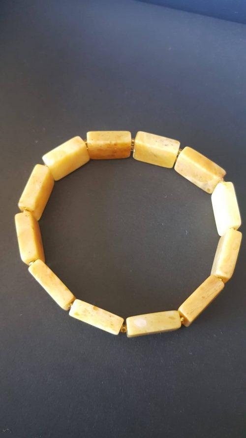 Baltık Damla Kehribar Rolex Bileklik (Butter Amber Bracelet)